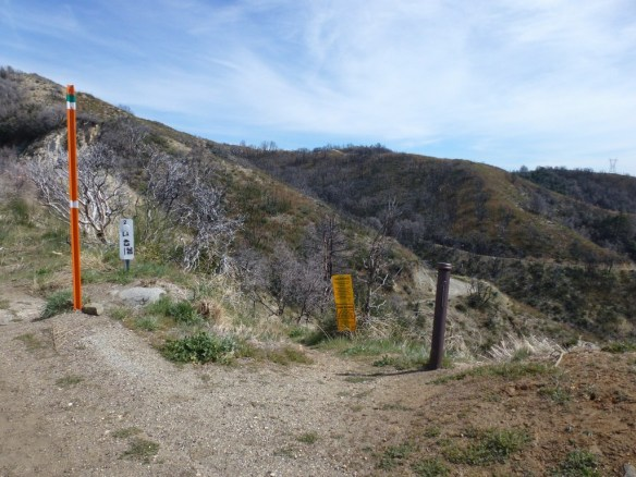 View from South Trailhead at Shortcut Saddle.