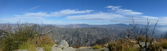 View north from San Gabriel Peak