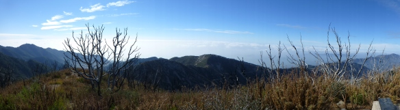 View South from San Gabriel Peak at 10:22 am.