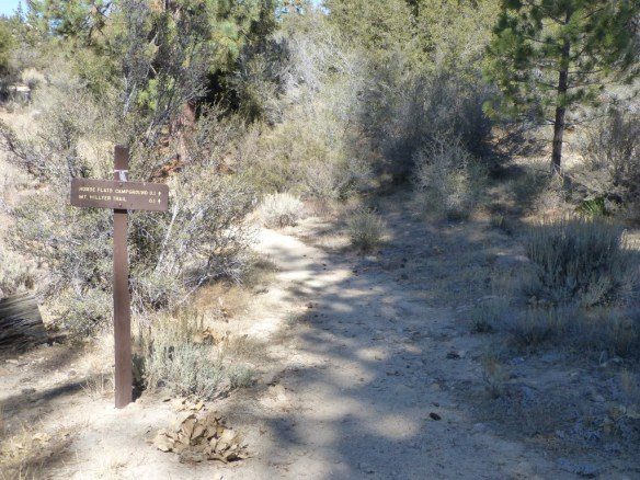 View at the junction with the Silver Moccasin Trail heading toward Horse Flats