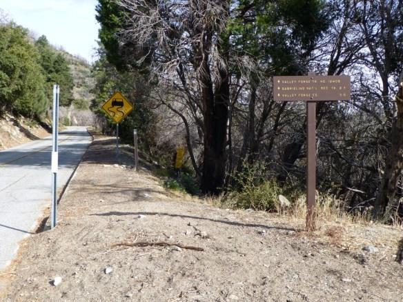 Trailhead at Eaton Saddle