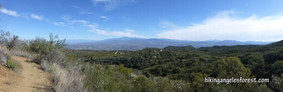 View from Dripping Springs Trail portion of the Aqua Tibia Loop hike.