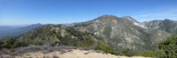 View toward Mt. Lowe from Muir Peak.