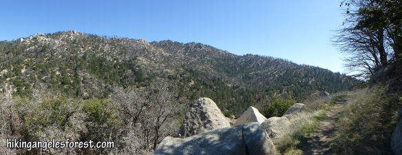 Pacific Crest Trail between Three Points and Sulfur Springs Campground (Click to Enlarge)
