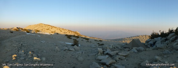 Where I camped on Mt. San Gorgonio. (click to enlarge)