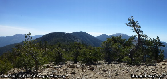 View from San Bernardino Peak toward Mt. San Gorgonio.