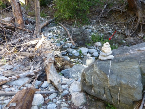 One of the cairns along the trail.