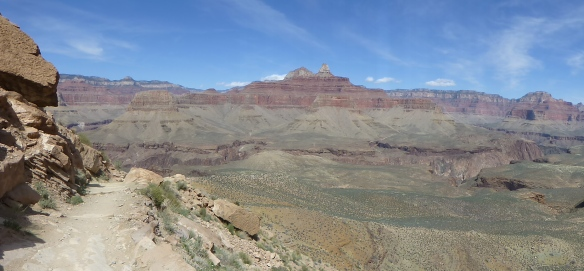 Expansive view from the South Kaibab Trail near the Tonto Platform.