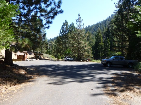 Parking area for the Burkhart Trail at the end of Buckhorn Campground.
