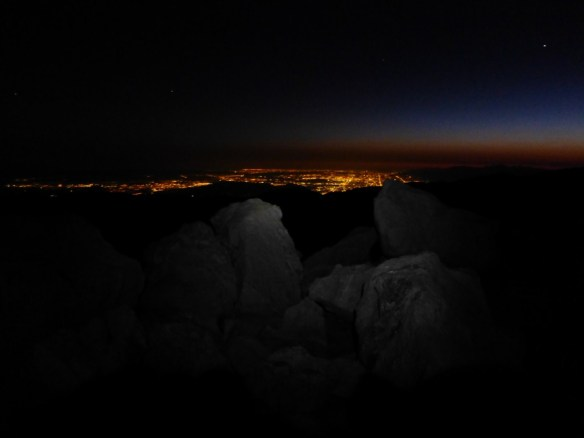Night view from the summit.