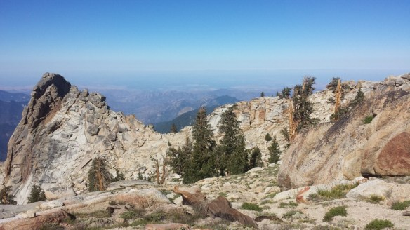 View on the way to Alta Peak our last overnight training hike prior to going to Mt. Whitney.