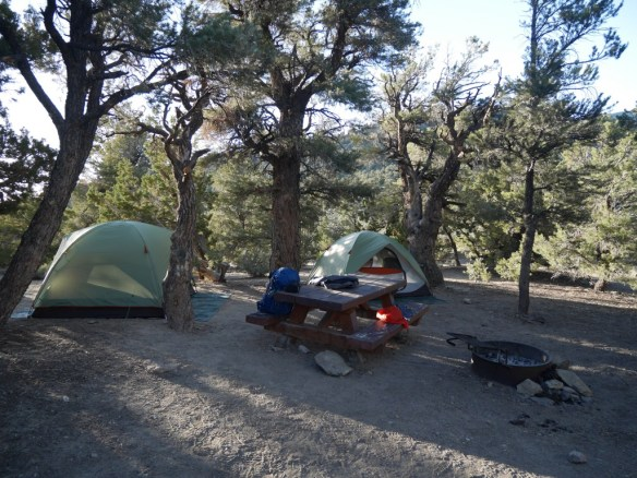 Campsite, Grandview Campground.
