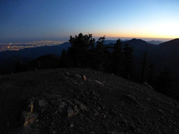 Dusk on Mt. Islip.