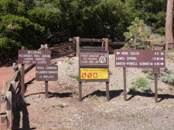Pacific Crest Trailhead at Vincent Gap