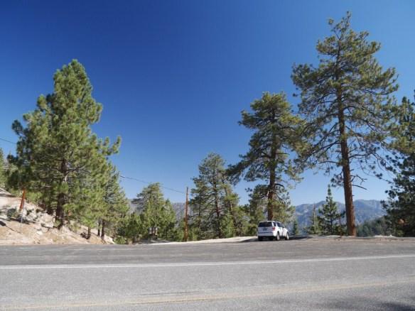 Parking area at Cloudburst Summit.