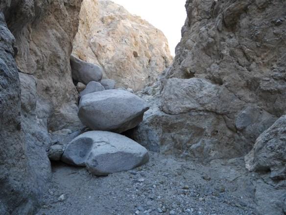 Metamorphic rock walls of Smoke Tree Canyon