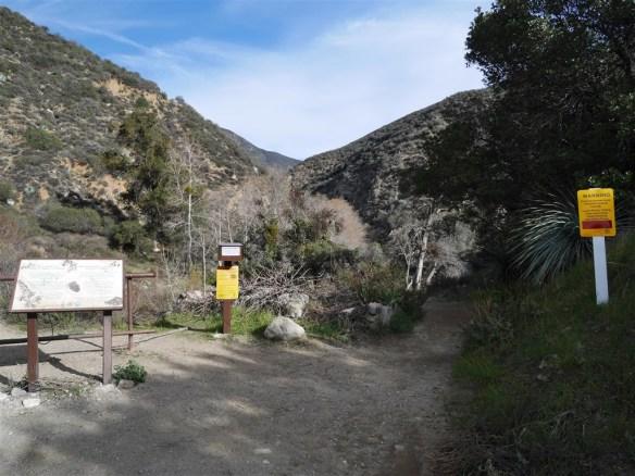Lower San Gabriel Canyon Trailhead.