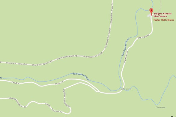 Vicinity Map to East Fork Parking Area.