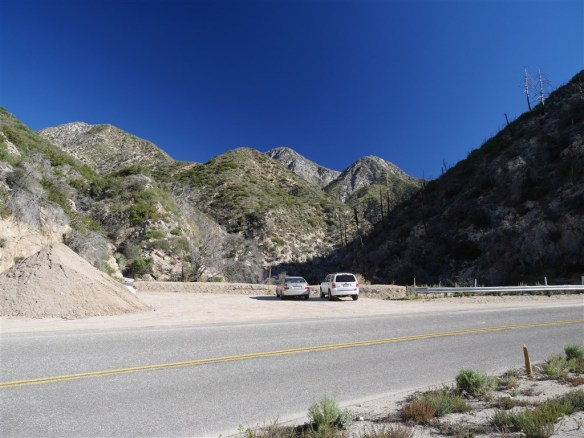 View of Colby Canyon Trailhead Parking.