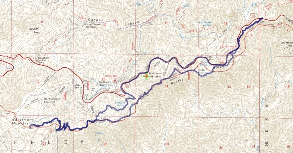 Hike #031 (Kratka Ridge) track map using Backcountry Navigator (US Forest Service-2013 map) from my phone.