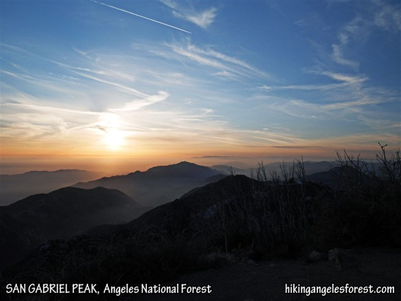 View toward Mt. Lukens from San Gabriel Peak.