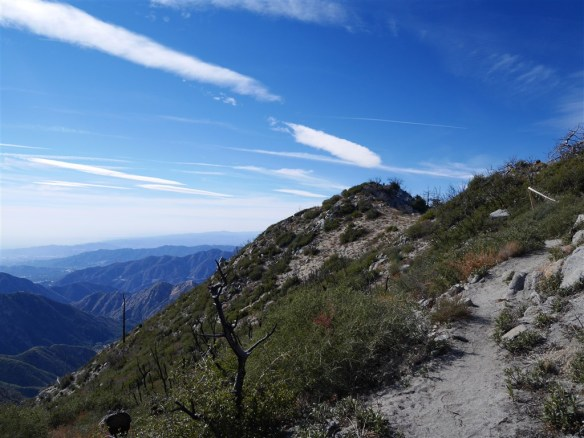 View toward Strawberry Peak just below the summit.