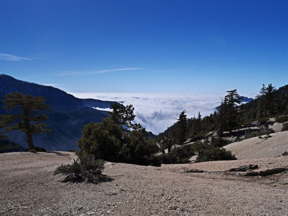 My favorite February 2015 hike in Angeles National Forest was along the PCT and Kratka Ridge watching the clouds from last weeks storm roll in.