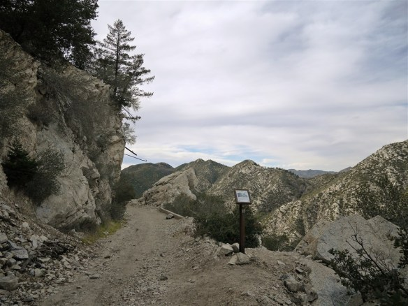 Upper Mt. Lowe Railway Trail at the Granite Gate.