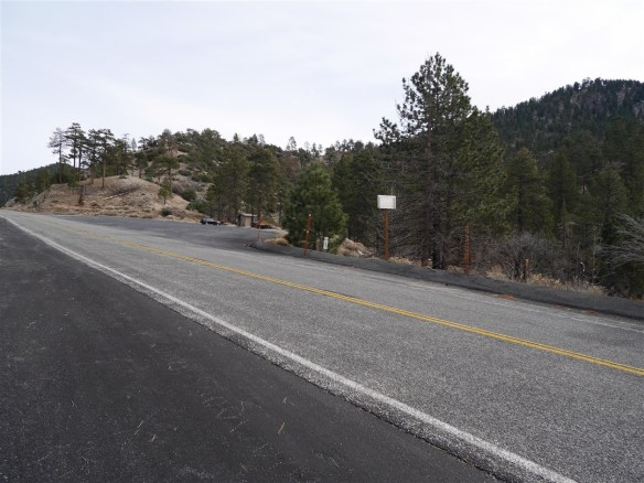 View toward parking from the PCT trailhead.